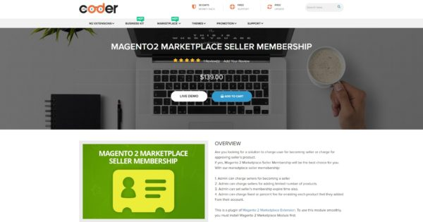 best magento 2 marketplace seller membership by landofcoder