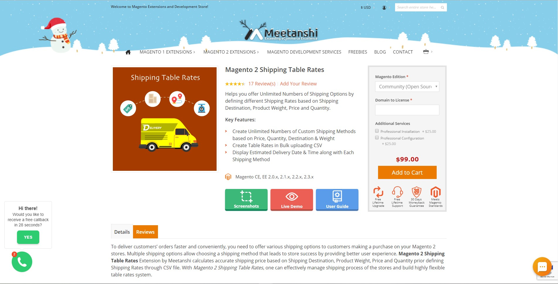 Magento 2 Shipping Table Rates