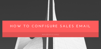 How to Configure sales email
