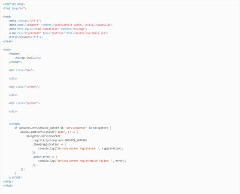application shell for Magento 2.3 PWA Studio
