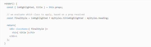 assign a style based on component logic in Magento 2.3 PWA Studio