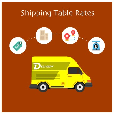 shipping table rates extension