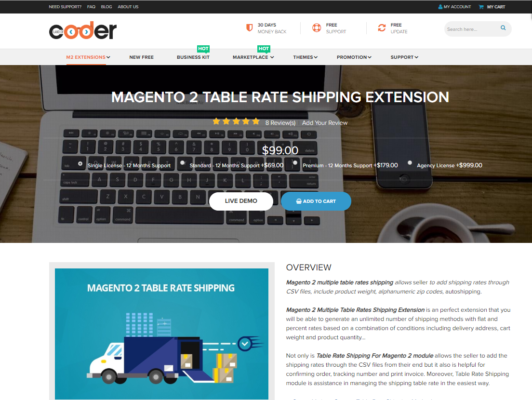 best magento 2 table rate shipping extension