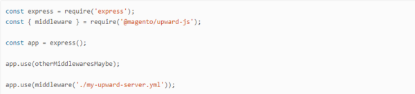 middleware API for UPWARD in Magento 2.3 PWA Studio