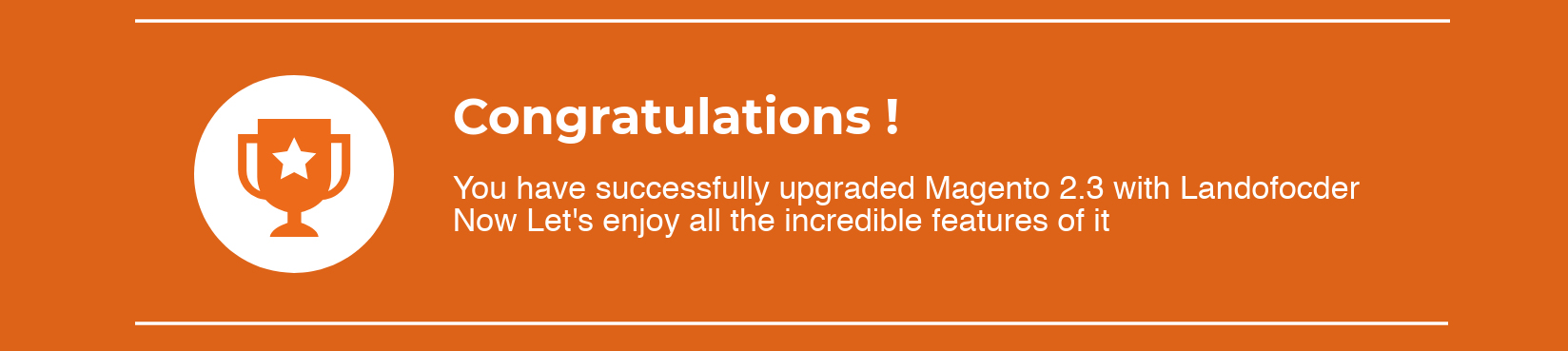 upgrade magento 2.3 successfully