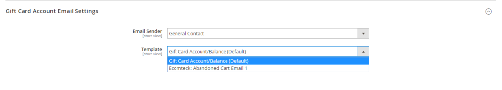 Configure gift card in Magento 2 default