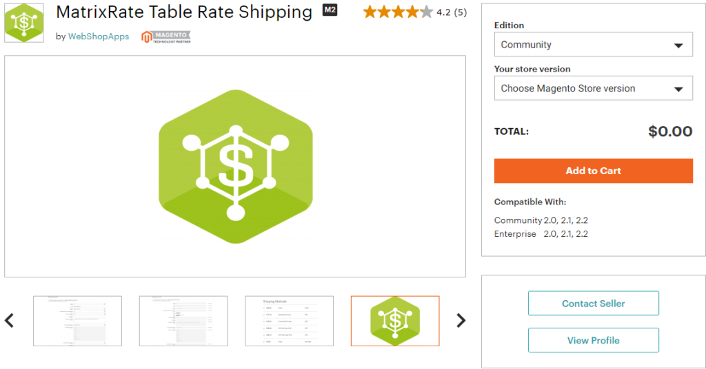 Magento MatrixRate Table Rate Shipping