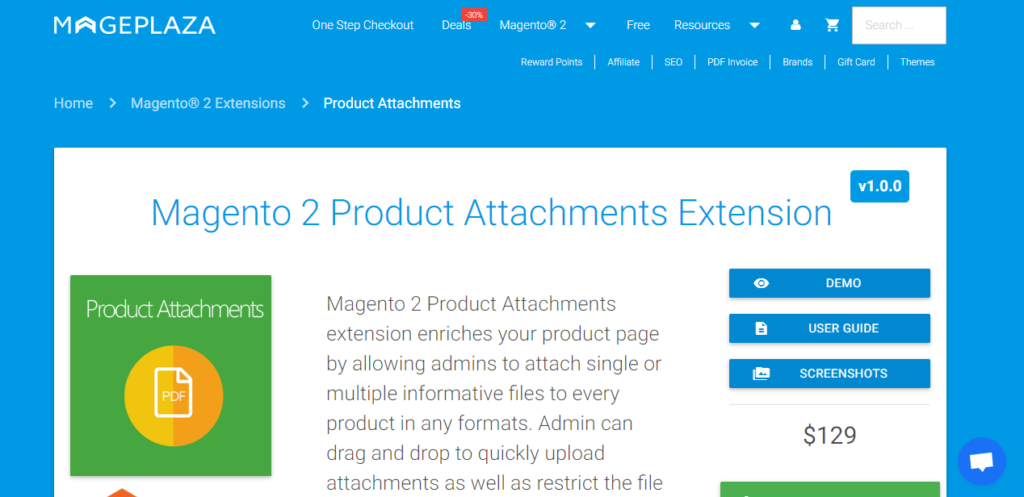 MP magento 2 product attachments extension