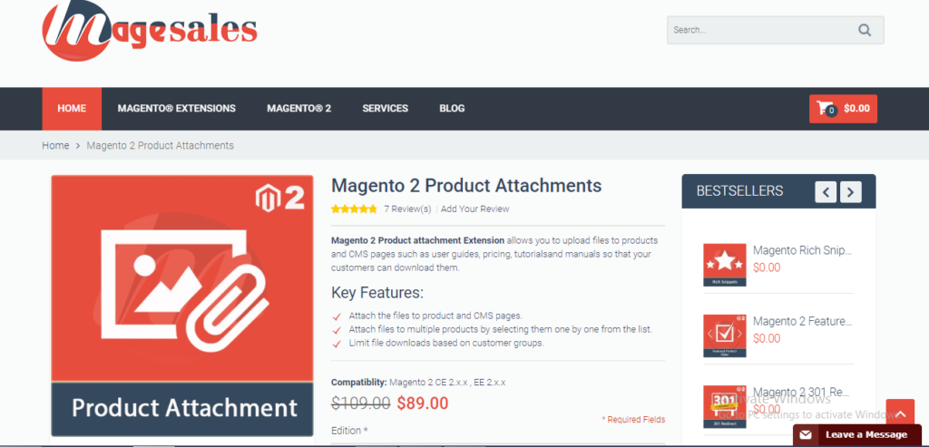 Magento 2 Product Attachments | Magesales