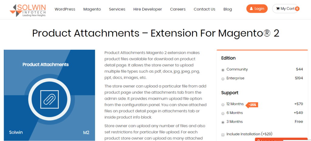 Product Attachment Extension for Magento 2 | Solwininfotech
