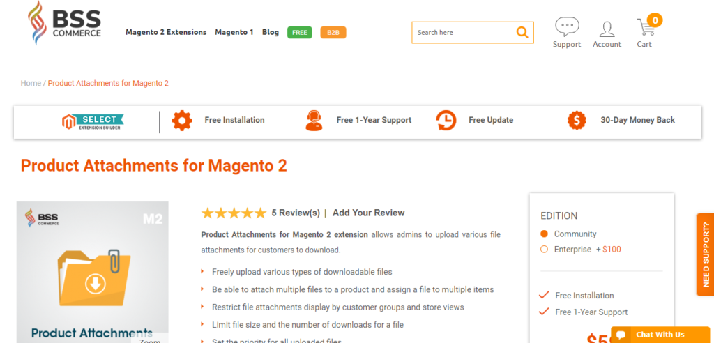 Product Attachments for Magento 2 |BSS Commerce