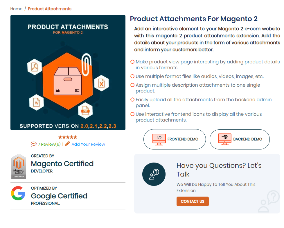 Product Attachments for Magento 2 | Mageants