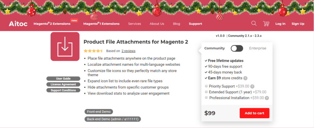 aitoc product file attachments for magento 2