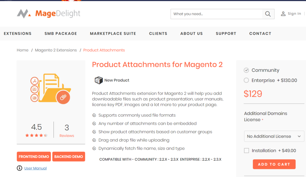 magedelight product attachments for magento 2