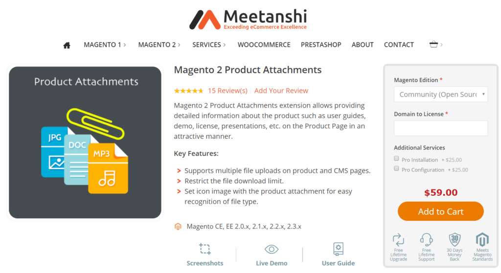 meetanshi magento 2 product attachment