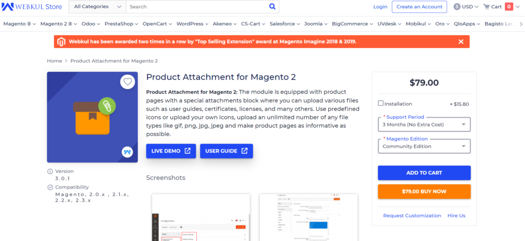 webkul store product attachment for magento 2