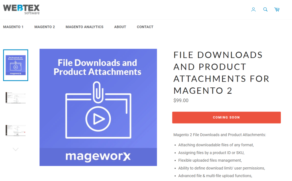 webtext software magento 2 product attachment