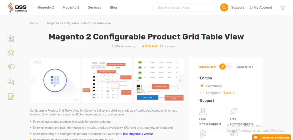 Magento 2 Configurable Product Grid View Extension