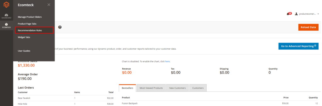 recommendation rules in Magento 2 Recommended Products Extension