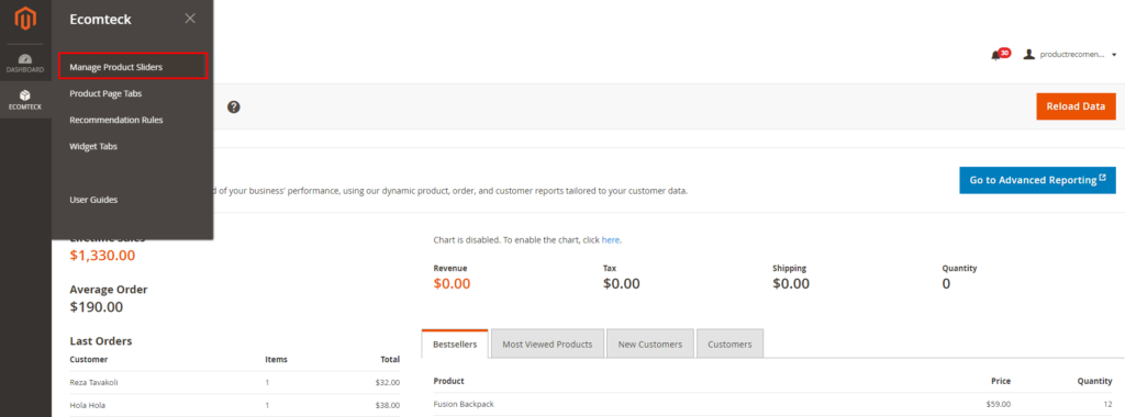 how to create product sliders in Magento 2 Recommended Product