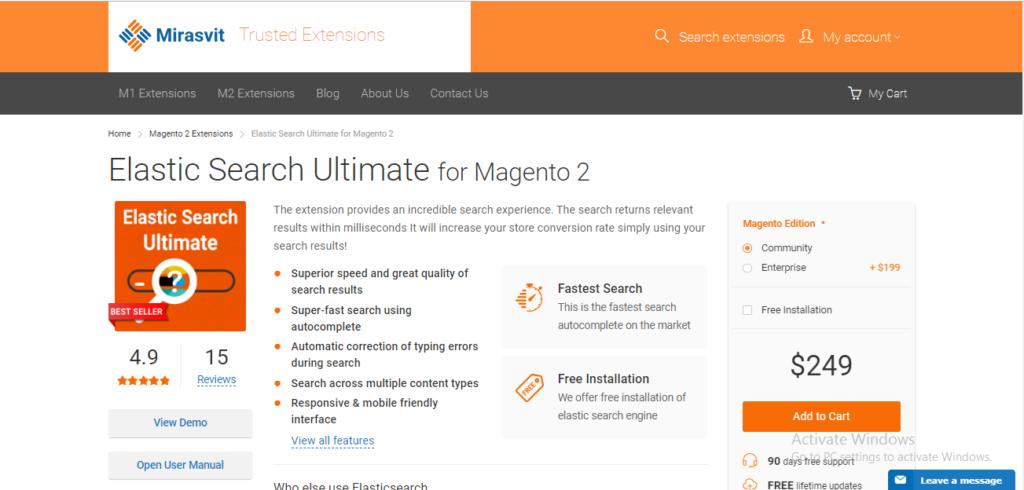 magento 2  elasticsearch extension