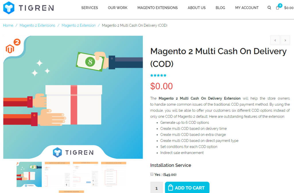 magento 2 multi cash on delivery (cod)