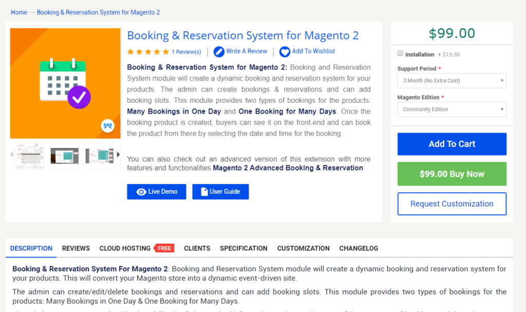 Booking and Reservation System for Magento 2 by Webkul