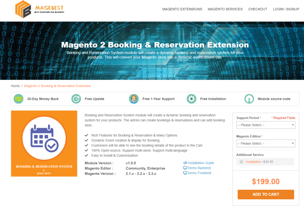 Magento 2 Booking and Reservation Extension