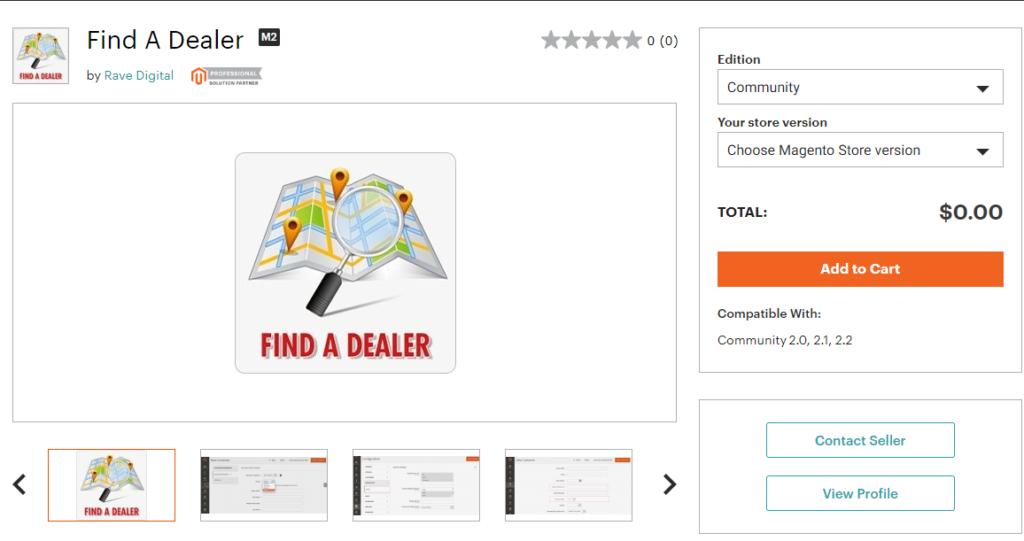 Magento 2 Find A Dealer free magento 2 dealer extension