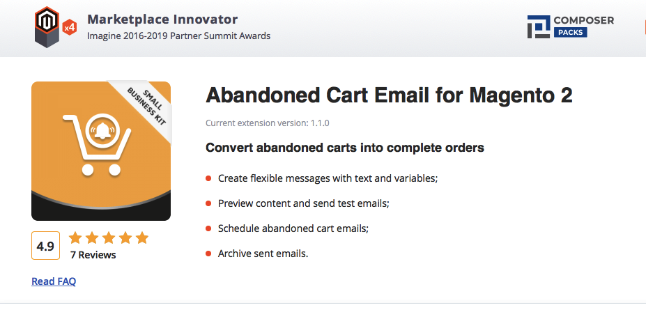 abandoned cart for magento 2