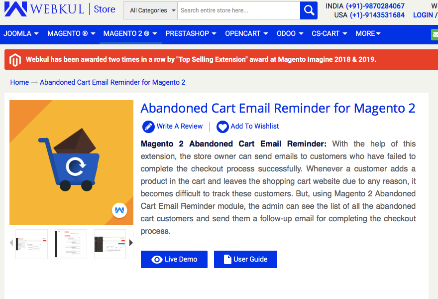 abandoned cart email for magenta 2