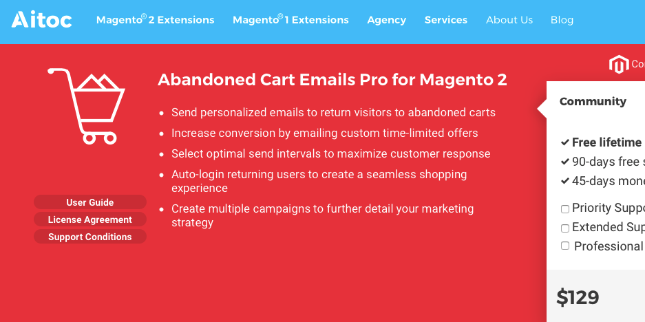 abandoned cart emails pro for magenta 2