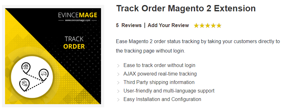 Track order magento 2 extension