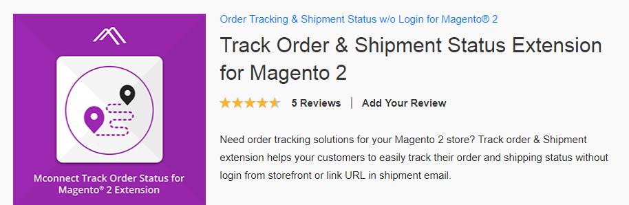 Track order & Shipment status extension
