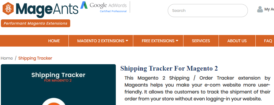 Magento 2 order tracking comparison