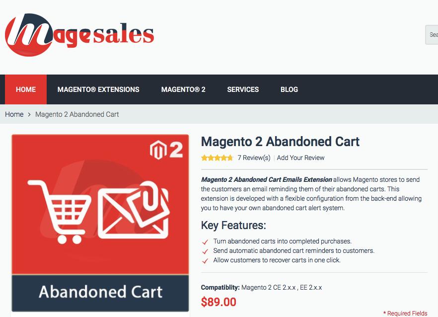 magneto 2 abandoned cart