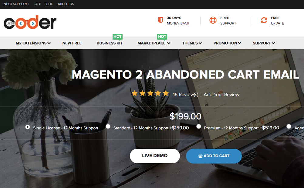 magento 2 abandoned cart email