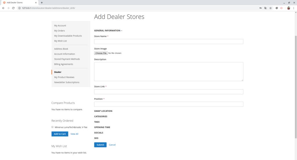 Multiple dealers in Magento 2 Dealer Store Locator