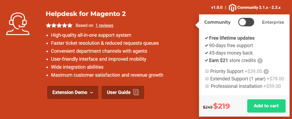 Helpdesk for magento 2