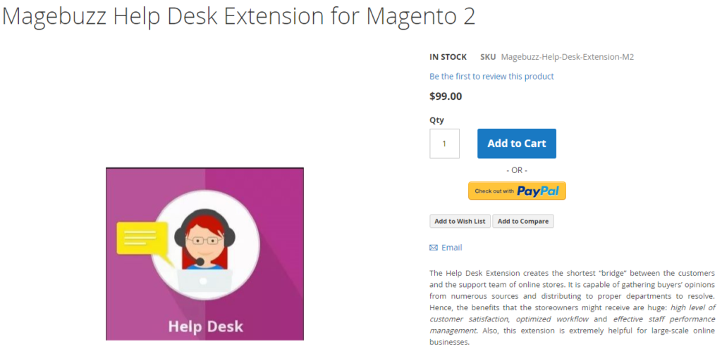 Magebuzz Help Desk Extension for Magento 2