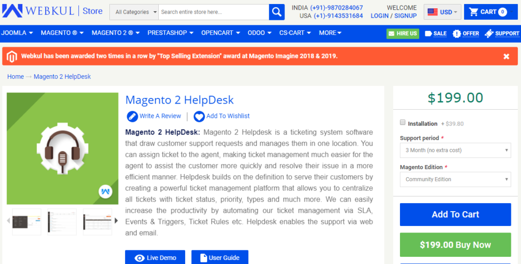 Magento 2 HelpDesk extension