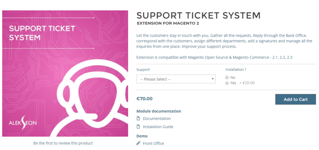 support ticket system extension for magento 2