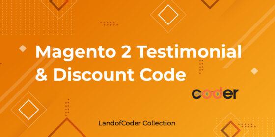 Magento 2 Testimonial Extension free discount codes