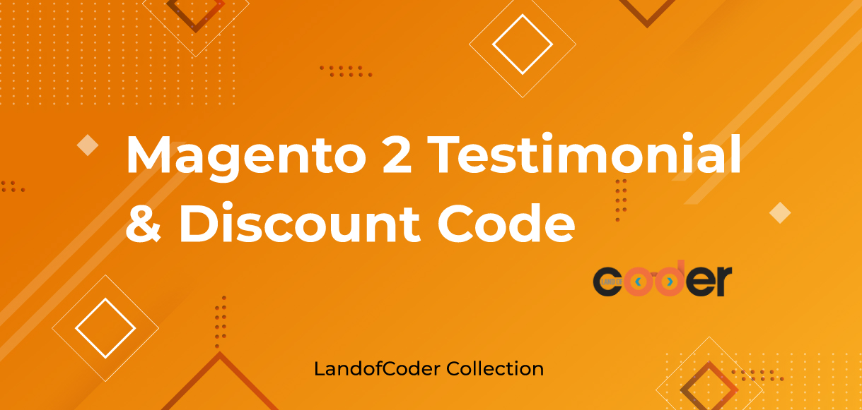 Magento 2 Testimonial Extension and discount codes