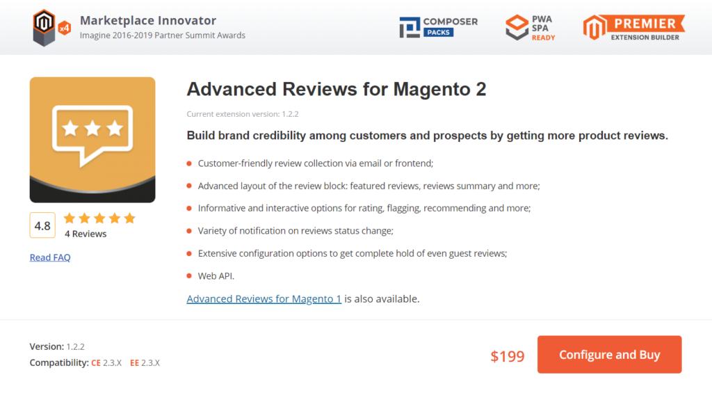 advanced reviews for magento 2
