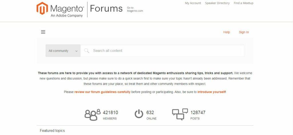 Informative Magento 2 forum