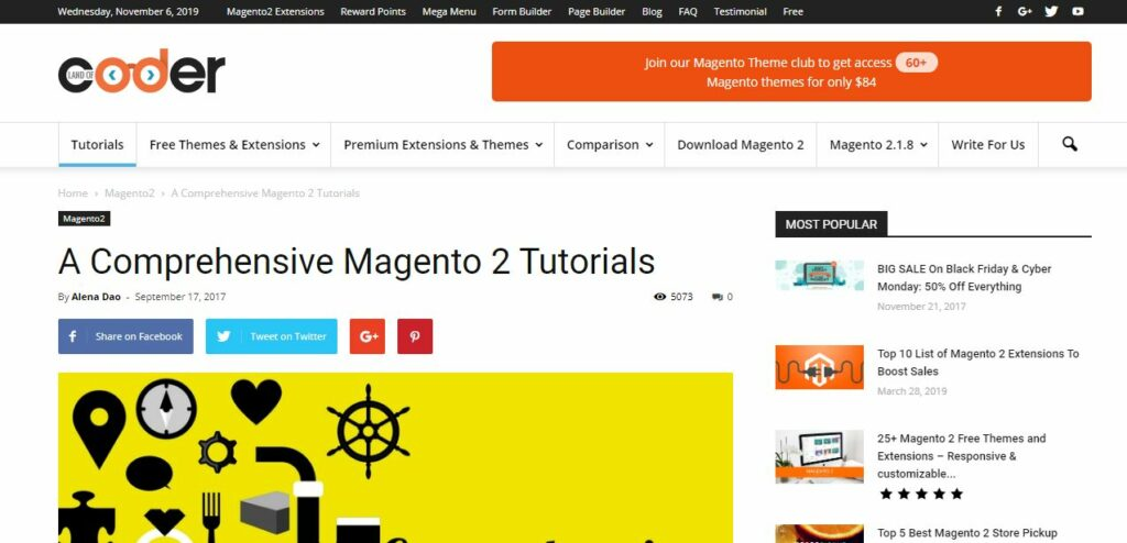 Landofcoder Blog for Magento 2