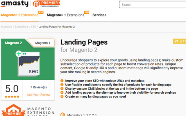 Landing Pages Magento 2