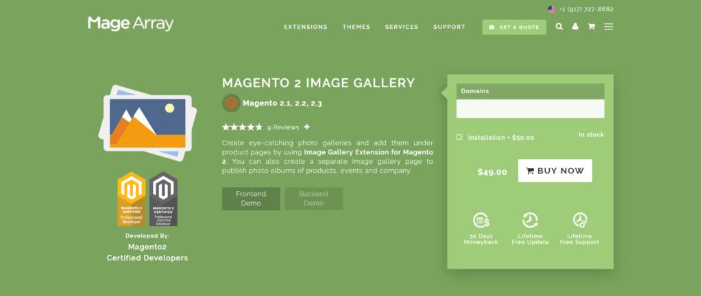 magearray magento 2 image gallery