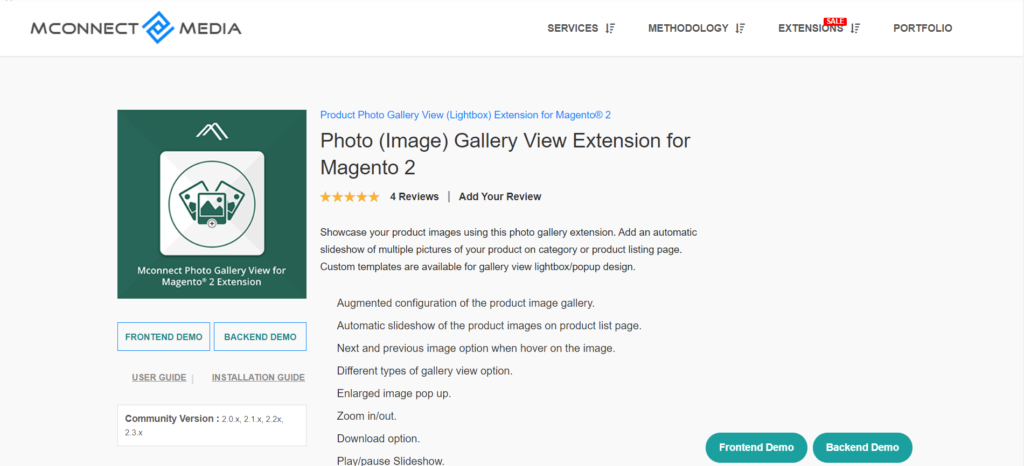 mconnect media photo gallery view extension for magento 2